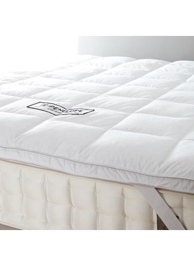 Penelope Piume Classic Kaz Tüyü Uyku Pedi  Çift Kişilik 200x200 Beyaz